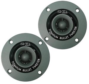 """DTI DT-600 1/"""" 240 WATTS PEAK TITANIUM BULLET CAR AUDIO TWEETERS DTI-DT600"""