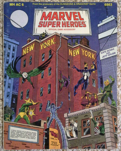 MSH TSR #3 New York MHAC6 Marvel Super Heroes Accessory New York