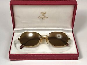 feb79147a2f Image is loading VINTAGE-CARTIER-PANTHERE-GM-56-MEDIUM-SUNGLASSES-FRANCE-