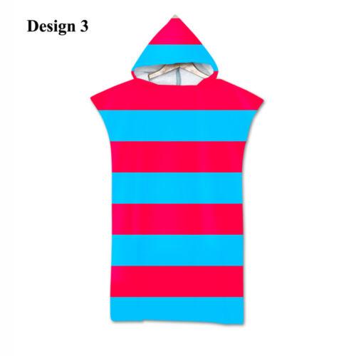 Nordic Simple Stripes Zigzags Waves Adult Poncho Hooded Bath Swim Beach Towel