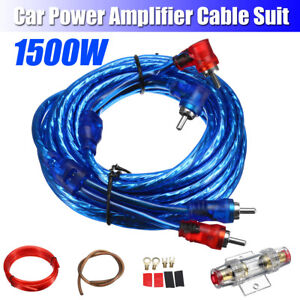 1500W-Complete-8-GAUGE-Car-Amp-AWG-Audio-Amplifier-Cable-Subwoofer-Wiring-Kit