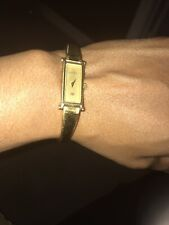 34e9466f2a6 Gucci Women s 1500L Gold Rectangle Watch Bangle Bracelet Authentic