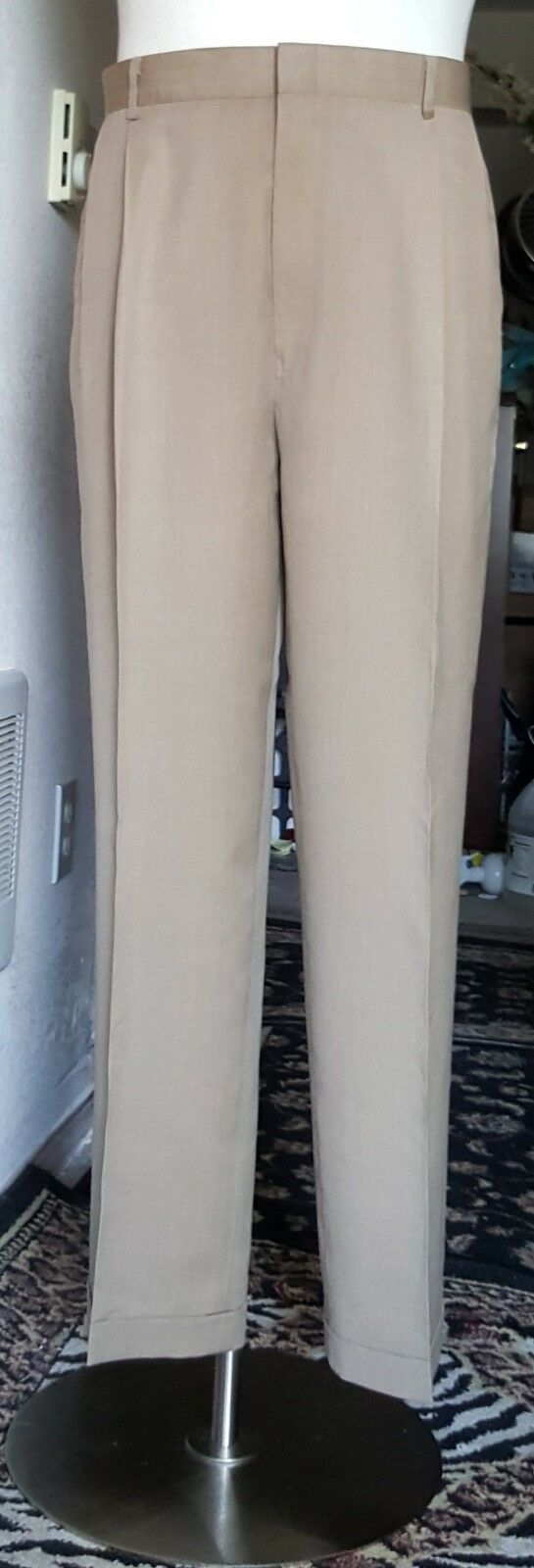 Mens Jos A Banks Traveler's Collection Brown Dress Pants  waist 38 x 30