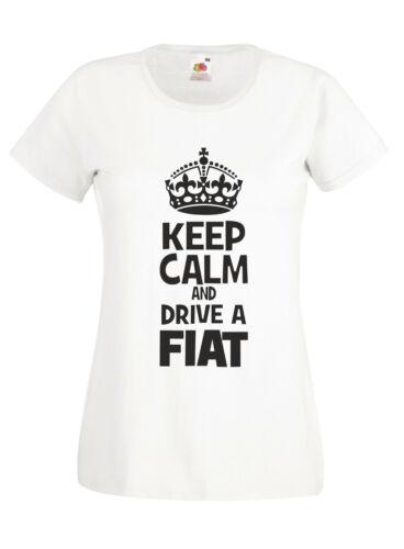 Keep Calm Drive A Fiat funny 500 Punto humour sarcastic mens ladies xmas gift