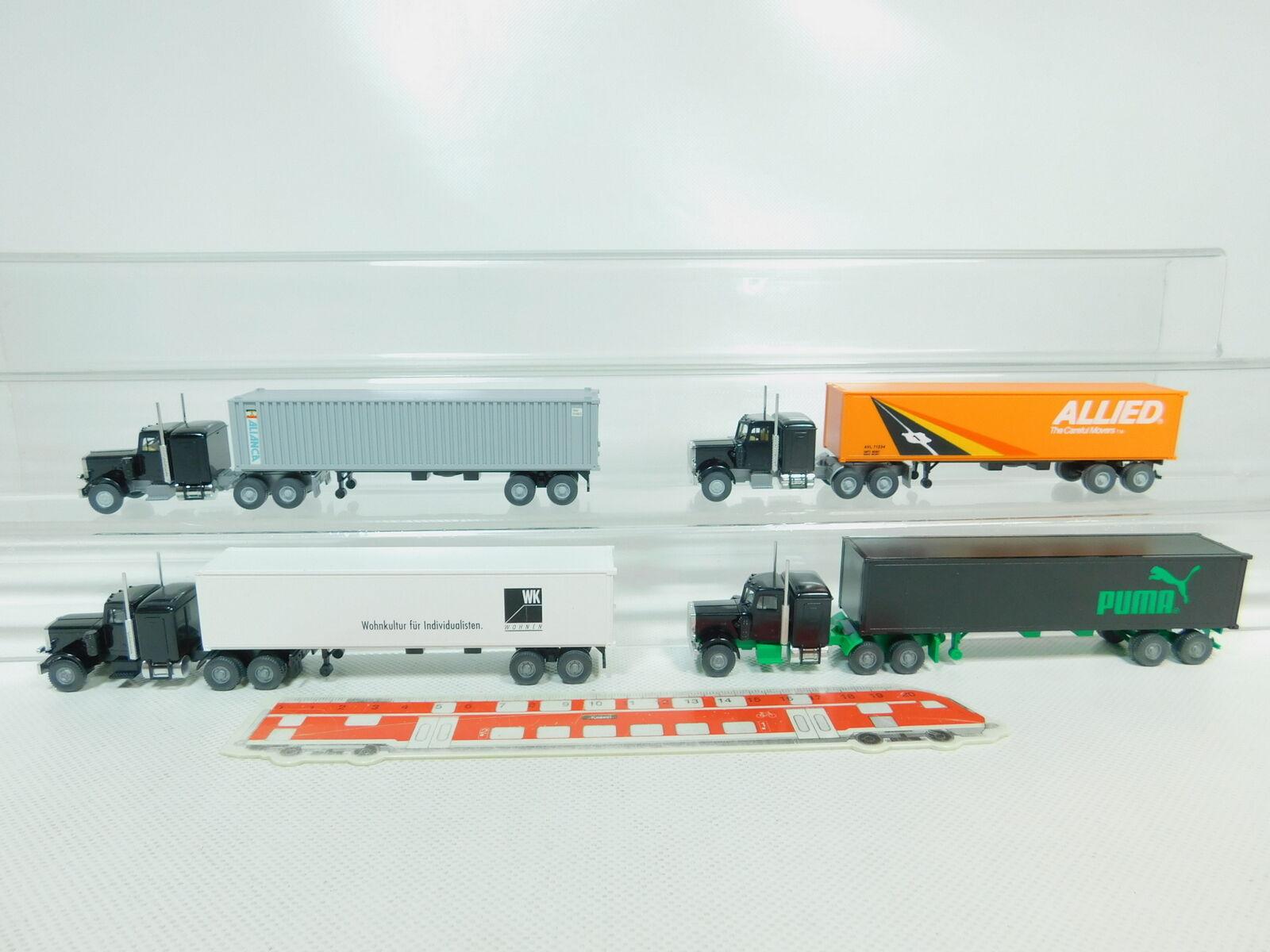 BO759-0,5 x Wiking H0 1 87 Camion Us Peterbilt    Alianca + Puma + Allied + 1ec46a