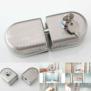 Details About Stainless Steel Fit 10mm 12mm Gl Door Lock Double Push Swing Hinged Frameless