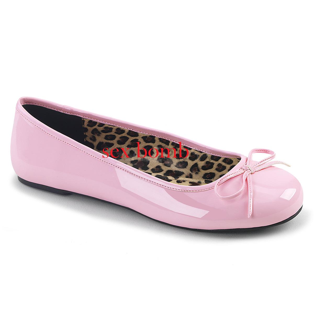 Sexy BALLERINE ROSA dal 39 al 46 ROSA BALLERINE BABY fiocchetto tacco flat scarpe GLAMOUR d5e62e