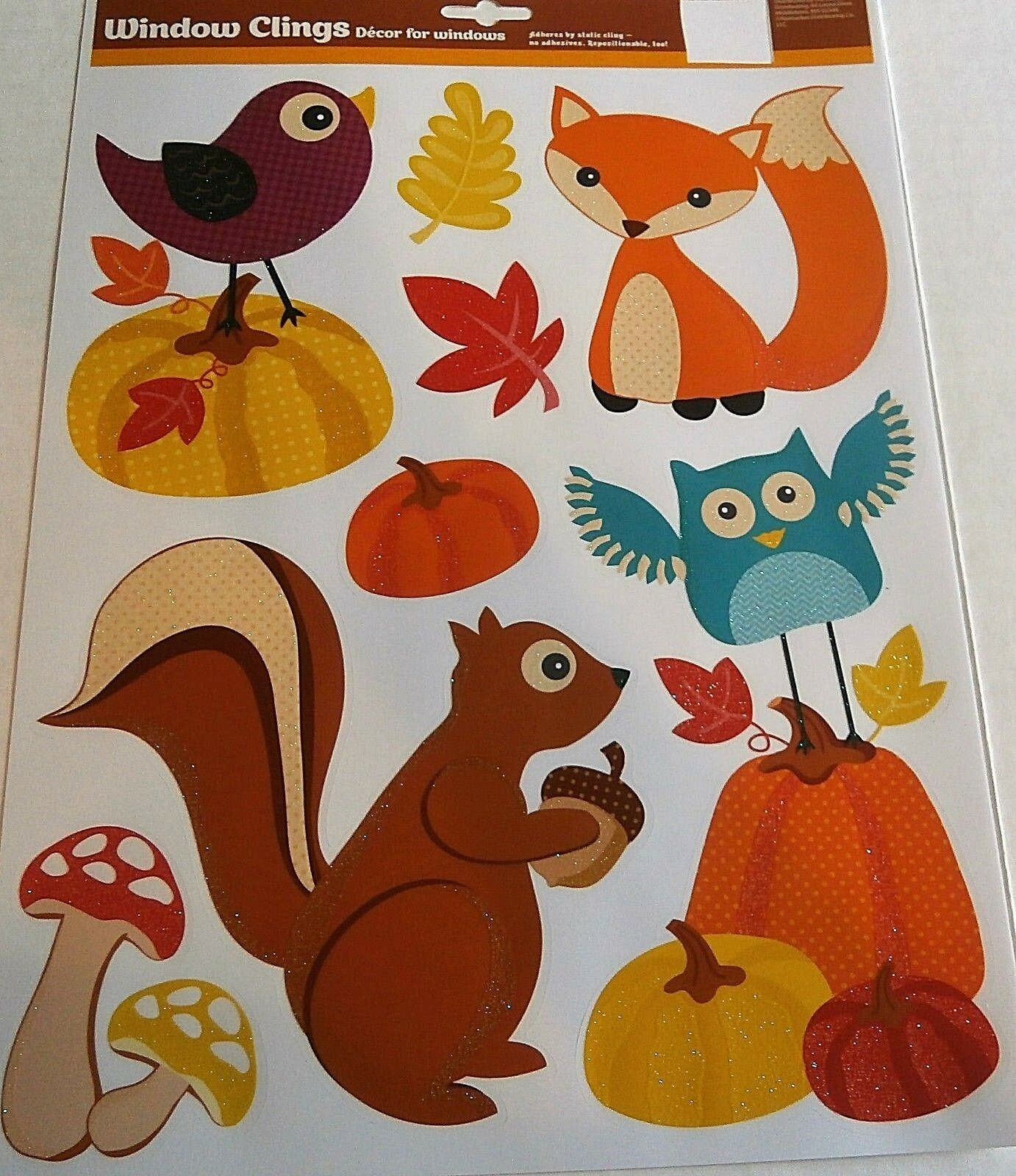 FALL Window Clings Assortment  #1 Your Choice