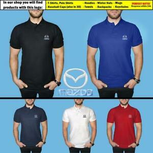 Mazda-Polo-T-Shirt-COTTON-EMBROIDERED-Auto-Car-Logo-Tee-Gift-Mens-Clothing