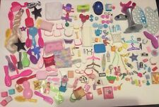 LOT Barbie Doll Accessories Brushes Miniatures Glasses Hangers Pillows Dishes ++