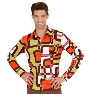 Costume-Carnevale-Uomo-Camicia-70-Hippy-09081-taglia-S-M