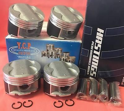 YCP B20 B18 B16 High Compression Pistons Racing Rings Swap 84.5MM 020 Press Fit