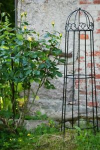 Rankger st h 120cm volleisen schwarz obelisk rosenhilfe for Rankhilfe obelisk metall