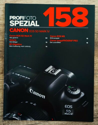 Foto profesional especial 158 Canon EOS 5d mark LV folleto 20 páginas muy raras