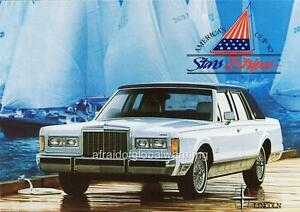 Old Print White 1987 Lincoln Town Car Stars Stripes Edition