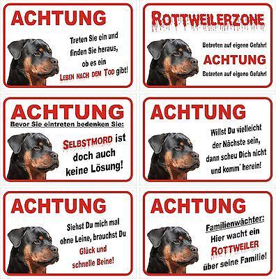 SchöN Türschild Achtung Rottweiler Schild 15x20, 30x20, 40x30, 60x40cm Warnschild Hund HeißEr Verkauf 50-70% Rabatt