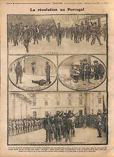 Revolution Coup d'État du 14 mai 1915 Portugal Revolta de 14 de Maio WWI 1915