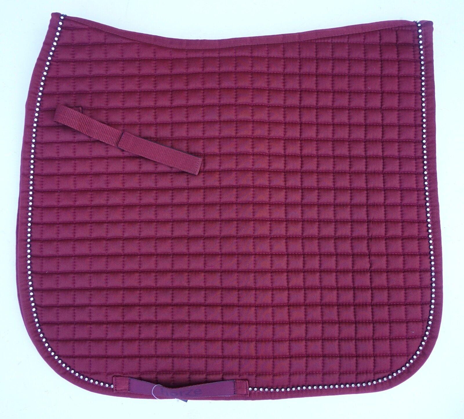 Horze Duchess Dressage Crystal Lined English Saddle  Pad Pony or Horse Size  online shopping