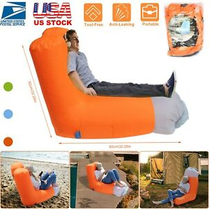 Outstanding Details About Inflatable Lounger Air Bed Sofa Chair Couch W Portable Organizing Bag Waterproof Bralicious Painted Fabric Chair Ideas Braliciousco