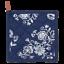 Clayre /& Eef Topflappen dunkelblau mit weißem Blumenmotiv Rückseite weiß Blumen