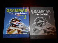 A Beka Grammar and Composition I 7th grade lot of 2 homeschooling New!! student