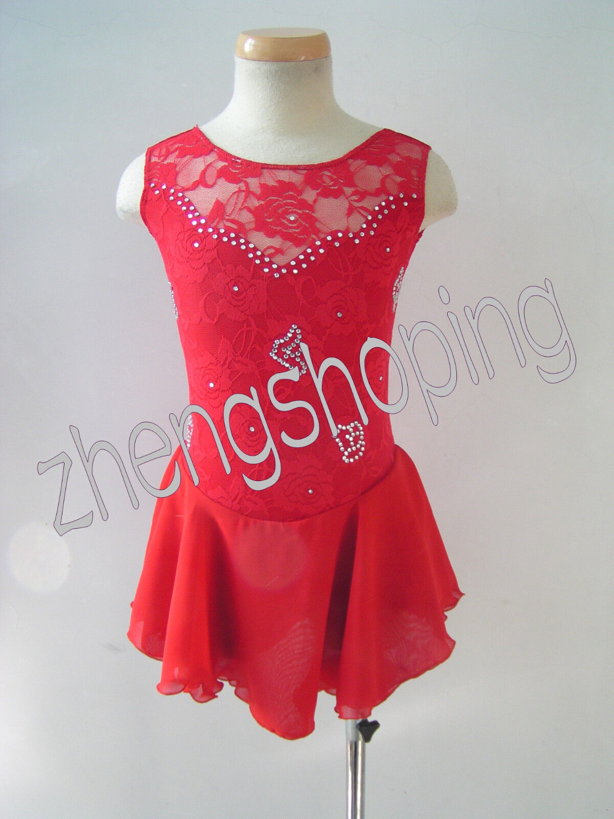 Ice Skating Dress 2017 New Style Competition Athletic Twirling Figure Dress 5330