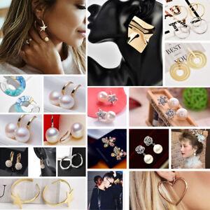 Fashion-Women-Girls-Earrings-Cute-Geometric-Ear-Stud-Drop-Dangle-Jewelry-Gifts