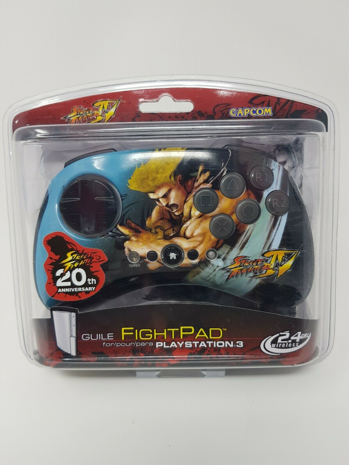 Street Fighter IV Guile Fightpad: Playstation 3 Controller / PS3 Wireless
