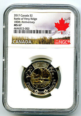 2017 Canada $2 100th Anniversary The Battle of the Vimy Ridge 5-Pack Toonie coin