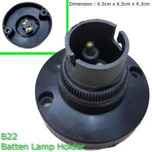 2x-B22-Bayonet-Cap-ceiling-wall-mount-Batten-Lamp-Holder-BC-bulb-lighting-Black
