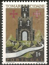 "Portugal Stamp - Scott #878/A218 1e Gold & Multi ""City of Tomar"" OG Mint/LH 1962"