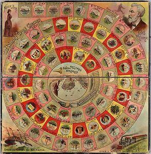 1890-PICTORIAL-gameboard-journalist-Nellie-Bly-trip-around-world-POSTER-8320002