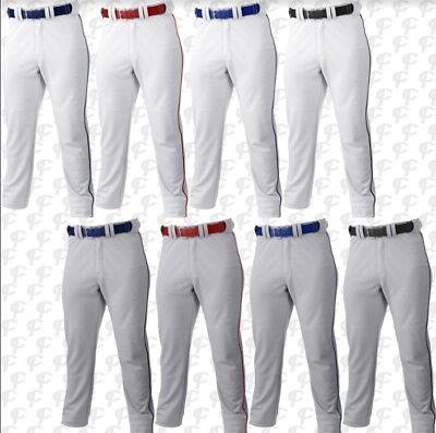 Russell Adult Men/'s Gray or White w//pipe Baseball Pants S233L2BK  *REG $30.00*