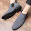 UK-Mens-Formal-High-Top-Chelsea-Ankle-Boots-Shoes-Faux-Suede-Casual-Shoes-Chukka thumbnail 7