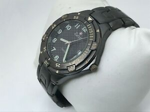 Zurich-Swiss-Men-Watch-Black-Tone-Analog-Date-Calendar-Wrist-Watch-Water-Resist