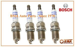 For Audi A4 Q VW Jetta SET of 4 BOSCH FR6KPP332S Double Platinum Spark Plugs OEM