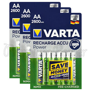 12-x-Varta-AA-2600mAh-batteries-Rechargeable-Ni-MH-1-2V-HR6-Stilo-Power-Accu