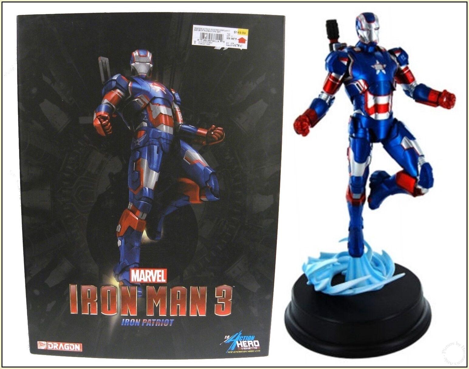 Iron uomo 3 Iron Patriot Armor 1 9 azione Hero Vignette by Dragon modellos