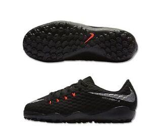 2c7548fb8 Nike Hypervenom Phelon III TF Turf 2017 Nike Skin Soccer Shoes Black ...