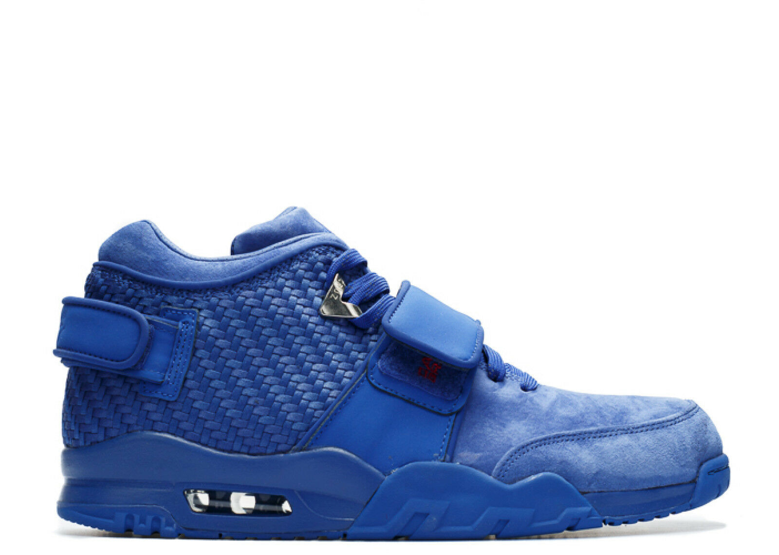 NIKE AIR TRAINER VICTOR CRUZ PREMIUM SUEDE 10.5 R H BLUE 812637-400 NY GIANTS