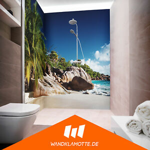 eck duschr ckwand zwei platten alu bad dusche wand isla bonita ebay. Black Bedroom Furniture Sets. Home Design Ideas