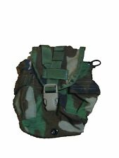 US ARMY Military Surplus MOLLE Woodland Camo 1qt Canteen Utility GP Pouch TB XC