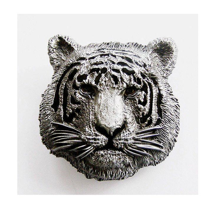 *533 Tiger Gürtelschnalle Buckle Gürtel Wildlife Gürtelschliesse