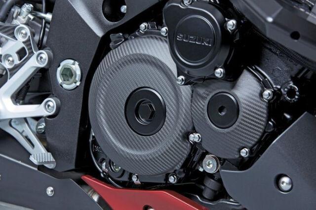 Cover Cubierta de Embrague Carbono Decoración Nuevo Orig. Suzuki GSX-S1000 2015