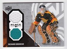 2011-12 NHL Upper Deck Black Diamond Dual Jerseys # GOALIE-RB Richard Brodeur