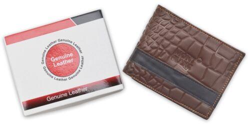 MEN/'S LUXURY LEATHER BIFOLD WALLET HOT SLIM UNIQUE DESIGN CREDIT CARD PURSE GIFT