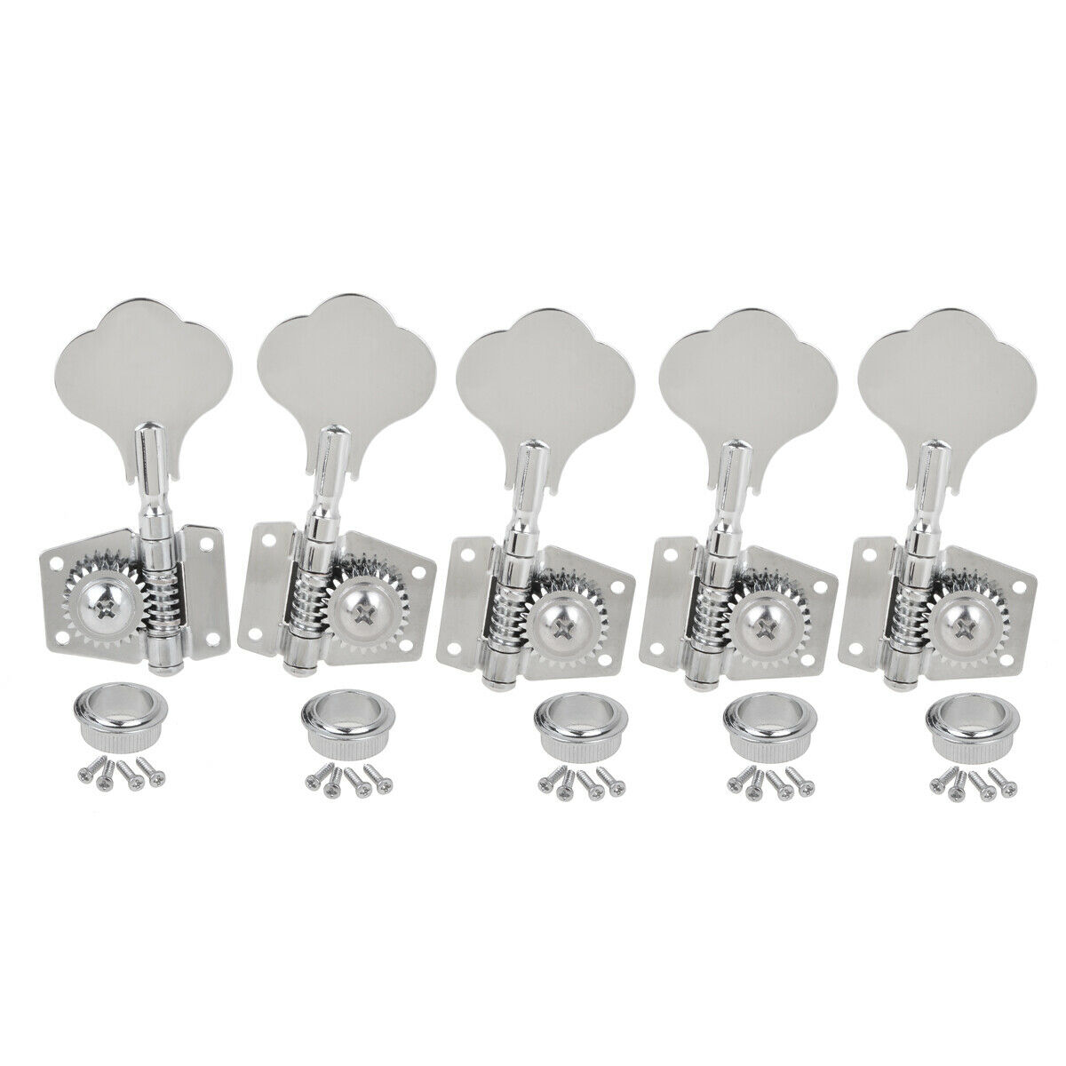 bass tuning pegs machine heads tuners for 5 string jazz p guitar 4r1l chrome 634458631556 ebay. Black Bedroom Furniture Sets. Home Design Ideas