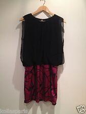 Robe tunique mi longue Deby Debo Polyester noir sequins rose 38