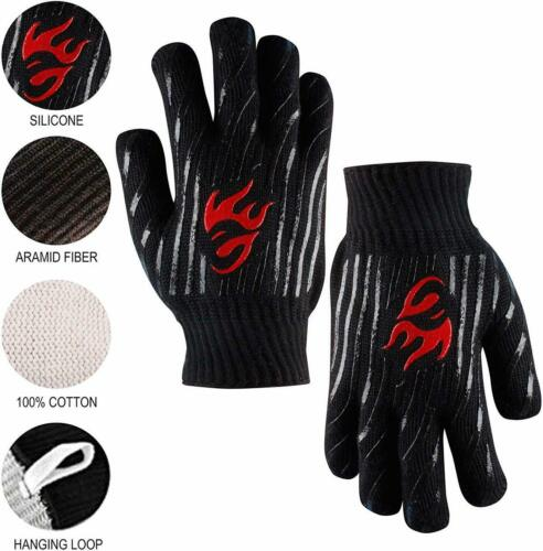 EvridWear BBQ Oven Gloves 932°F Extreme Heat and Cut Resistant  2 Cuff Styles