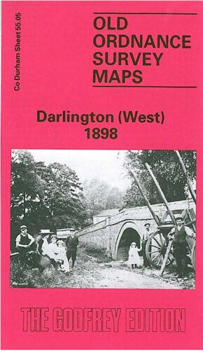 OLD ORDNANCE SURVEY MAP DARLINGTON WEST 1898 STANHOPE GREEN CONISCLIFFE ROAD